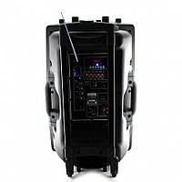 Портативная акустическая система UKC BT-15A в комплекте 2 микрофона