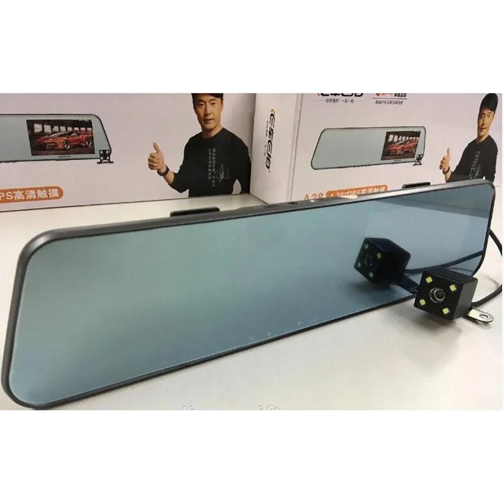 Зеркало регистратор с камерой заднего вида c Сенсорным экраном DVR A29 HD1080 + ПОДАРОК: Держатель для