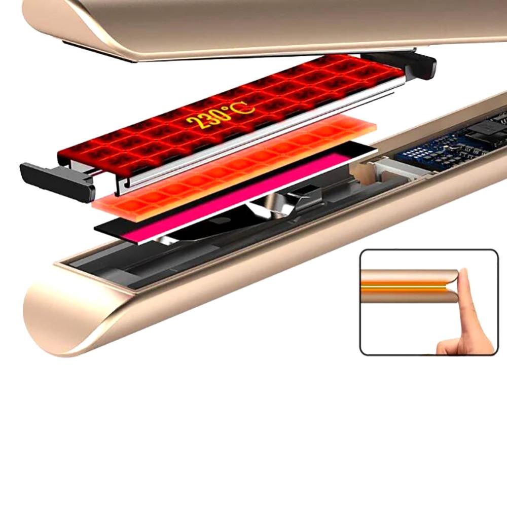 Утюжок с индикатором DSP-10074  + ПОДАРОК: Держатель для телефонa L-301