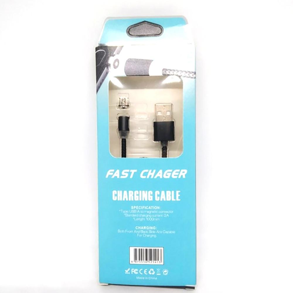 Шнур для мобильного USB-microUSB магнитный круглый M3  /AR 49