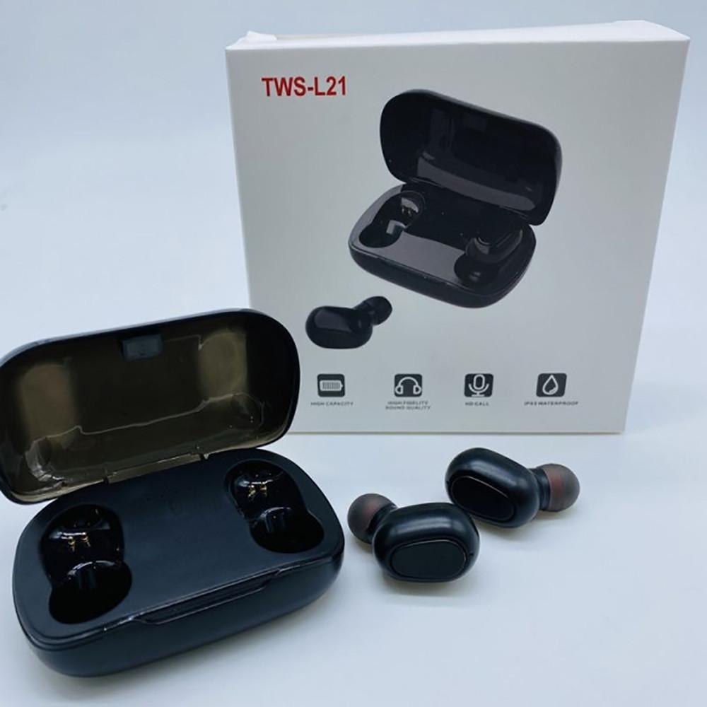 Беспроводные Bluetooth наушники TWS-L21 + ПОДАРОК: Держатель для телефонa L-301