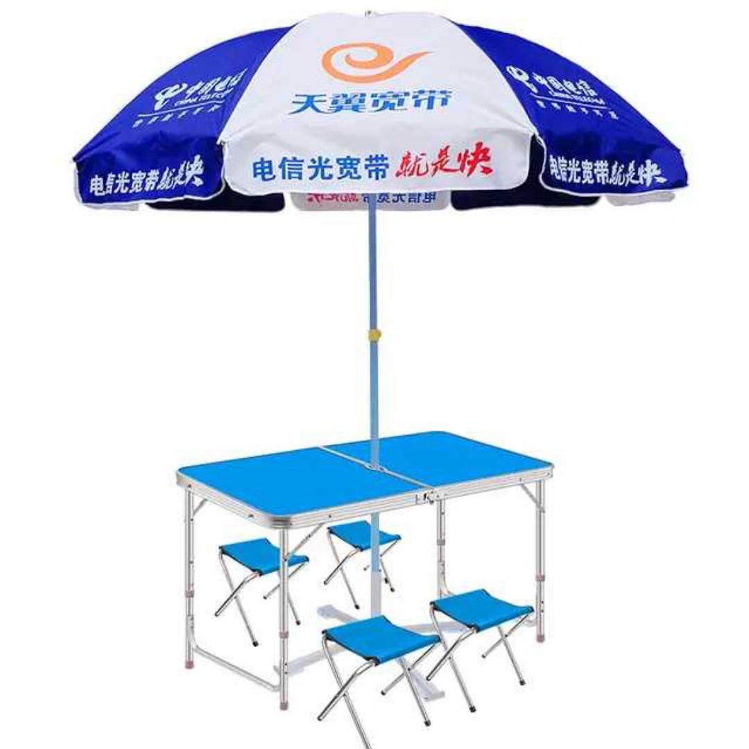 Стіл валізу! Якісний стіл для пікніка. Складаний стіл + 4 стільця. З отвором для парасольки.