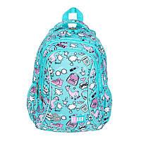 Рюкзак школьный подростковый для девочки 3-х камерный BP26 PASTELOWE LAMY, фото 1
