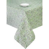 Скатерть Цветы Олива 140х140 см
