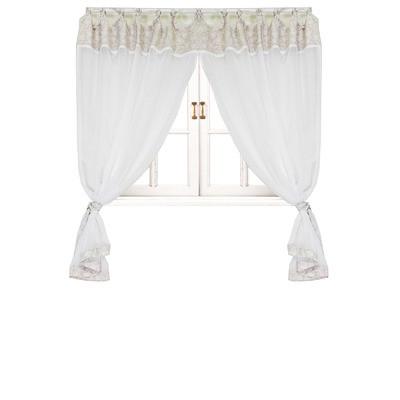 Комплект штор батист white Rose 2 ед. 250х145 см с кантом и кружевом