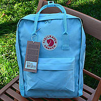 Городской рюкзак Fjallraven Kanken, портфель, школьній рюкзак, ранец, канкен голубой/blue