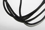 Шнур круглый 4мм плотный 100м черный, фото 2