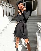Женское платье клеш с поясом, фото 1