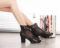 Модные женские ботинки туфли на каблуке Уценка