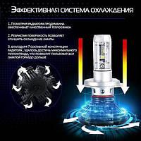 Комплект LED ламп для авто Ближний/Дальний TurboLED X3 H3, светодиодные лампы в авто, передний свет