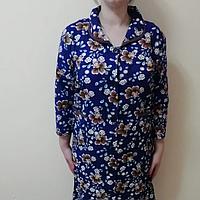 Женский байковый фланелевый халат размер 58 60 62