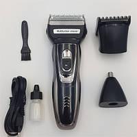 Профессиональная машинка для стрижки волос и бороды Gemei GM-595 3 в 1 триммер бритва