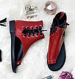 Высокие кожаные сандалии с закрытой пяткой открытым носом, фото 4
