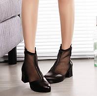 Стильные женские туфли ботинки на каблуке Уценка