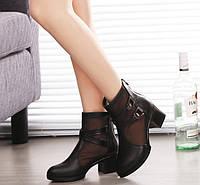 Элегантные женские туфли ботинки на каблуке Уценка