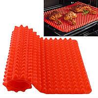 """Антипригарный силиконовый коврик для готовки """"Пирамидка"""" Pyramid Pan Red"""