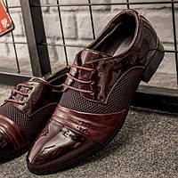 Стильные мужские лакированные туфли, 41-46