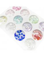 Камни для декора на ногтях разноцветные микс набор 1 уп