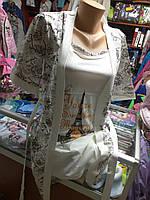 Женский комплект Халат с рубашкой размер 44 46 48 50