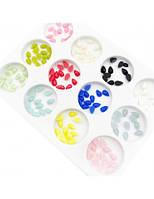 Камни для декора на ногтях разноцветные капли набор 1 уп