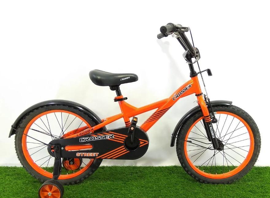 """Дитячий велосипед Crosser Street 18"""" помаранчевий"""