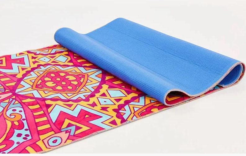 Килимок для йоги та фітнесу замшевий Fitgo (SS173-2)