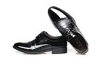 Стильні чоловічі лаковані туфлі під крокодил, 42-45, фото 2