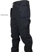 Брюки тактические Черные , Горка Полиция (коттон)