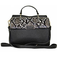 Женская, стильная,небольшая  сумка, материал кожзам, одна ручка, два отделения (910210) 2 цвета