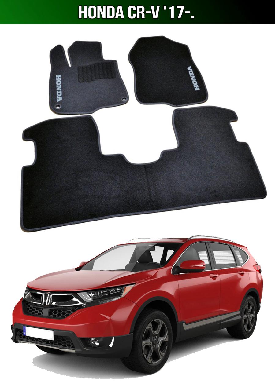 Коврики Honda CR-V '17-. Текстильные автоковрики Хонда СРВ