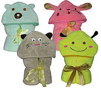 NEW! Милые, забавные детские полотенца - пледы с капюшоном - серия Тойс микрофибра ТМ УКРТРИКОТАЖ!