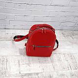 Рюкзак piton mid красный из натуральной кожи kapri, фото 2