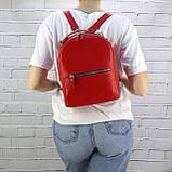 Рюкзак piton mid красный из натуральной кожи kapri, фото 3