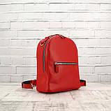 Рюкзак piton mid красный из натуральной кожи kapri, фото 10