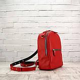 Рюкзак piton mid красный из натуральной кожи kapri, фото 6