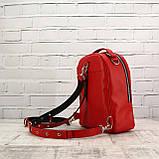 Рюкзак piton mid красный из натуральной кожи kapri, фото 7
