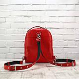Рюкзак piton mid красный из натуральной кожи kapri, фото 8