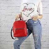 Рюкзак piton mid красный из натуральной кожи kapri, фото 5
