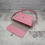 Сумка simple розовая из натуральной кожи kapri, фото 7