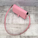 Сумка simple розовая из натуральной кожи kapri, фото 8