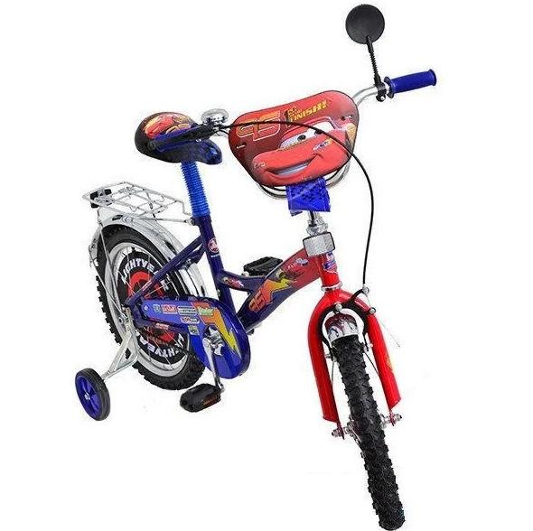 """Детский велосипед """"тачки"""" 12"""" син"""