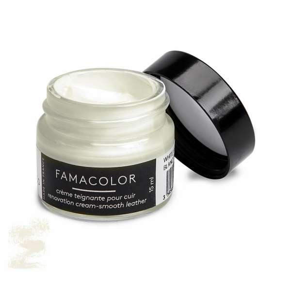 ✅ Белая с сероватым оттенком жидкая кожа для обуви и кожаных изделий Famaco Famacolor, 15 мл