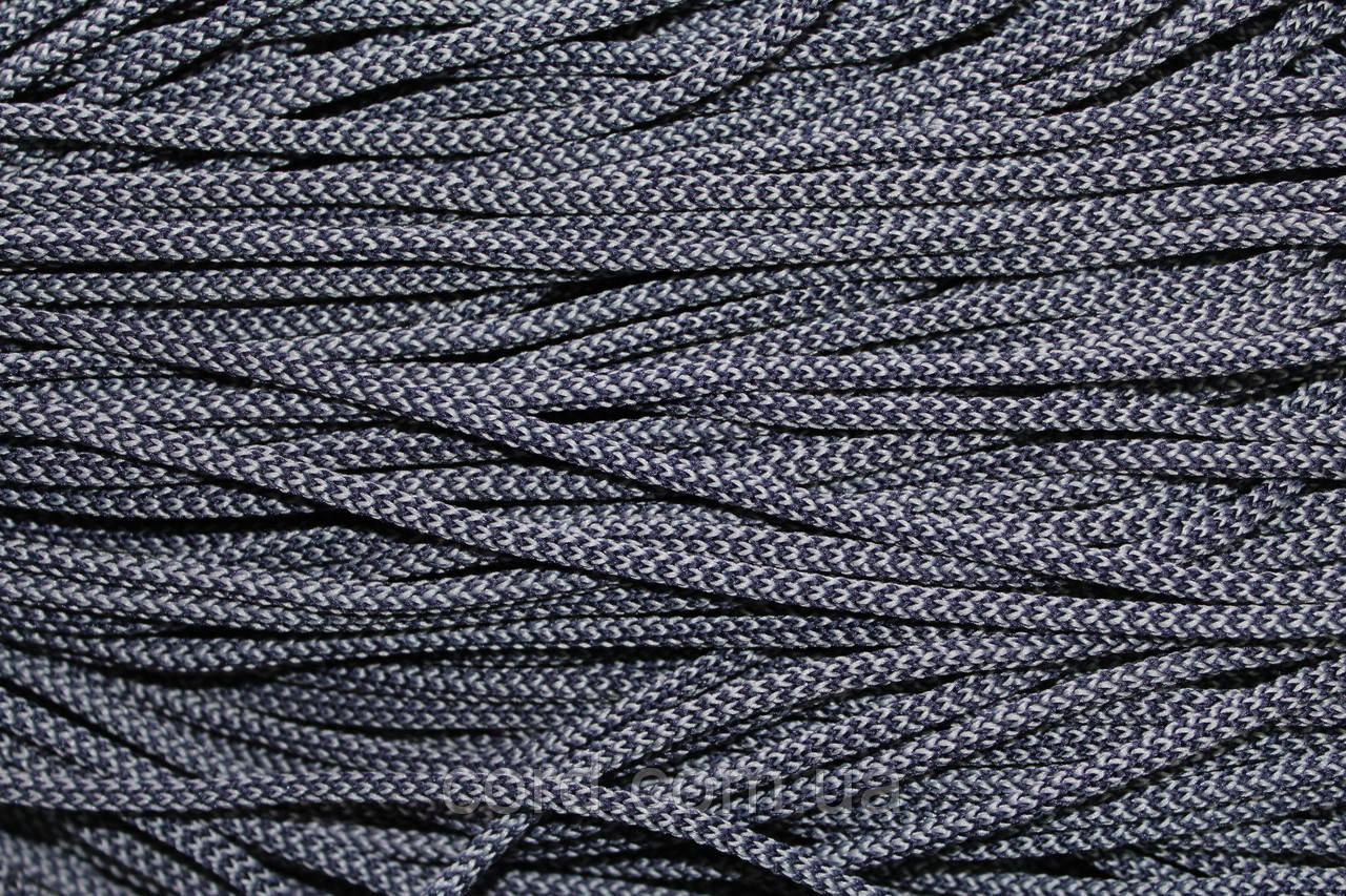 Шнур 4мм круглый 200м синий + серый