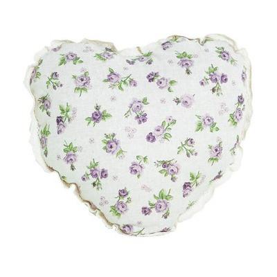 Подушка Серце lilac Rose с кружевом