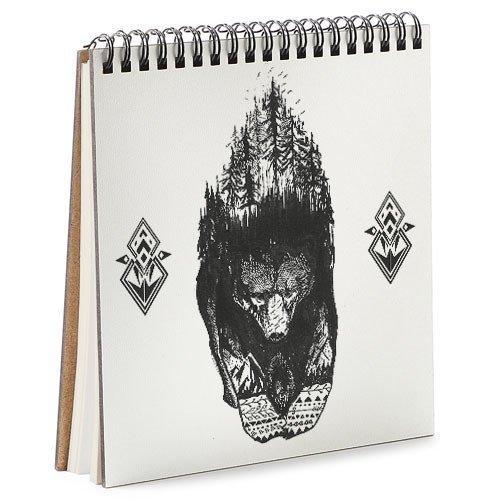 Блокнот Sketchbook Хранитель леса квадратный 16,7х18 см (BDK_17A002)