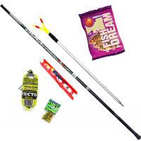 Набор поплавочный для рыбалки: Удилище маховое 5м + оснастка + наживка