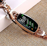 Женские фитнес часы Smart - Watch H8 водонепроницаемые с металлическим ремешком, шагомер, тонометр h8