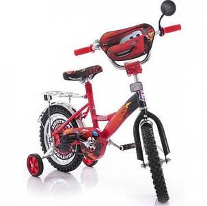 """Дитячий велосипед """"Тачки"""" 18"""" червоний, фото 2"""