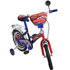 """Дитячий велосипед """"Тачки"""" 18"""" синій"""