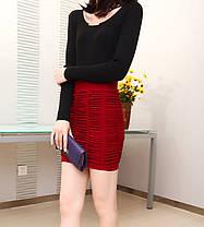 Стильная мини юбка карандаш оригинального дизайна, фото 2